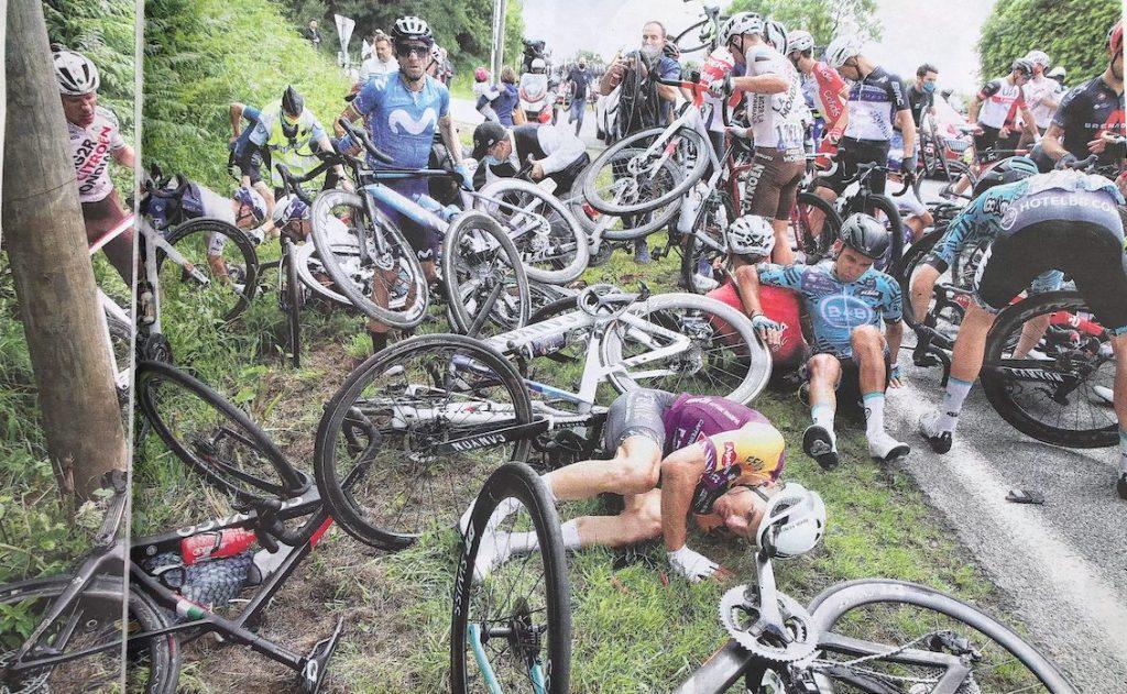 Tour de France 2021 chutes