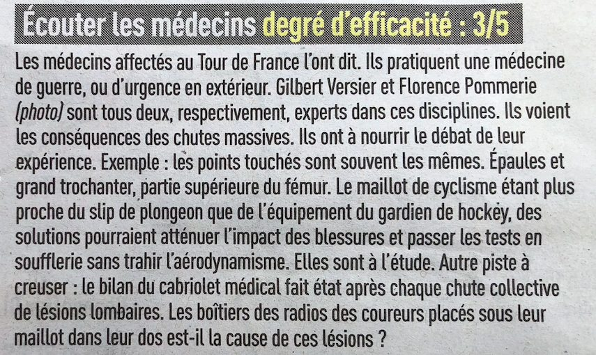 Tour de France 2021 medecin