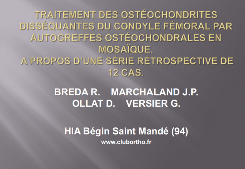 formation chirurgie orthopédique